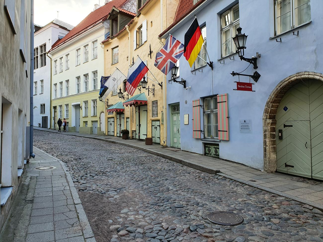 Luxurious Schlössle Hotel in Tallinn Old Town, on quiet side street